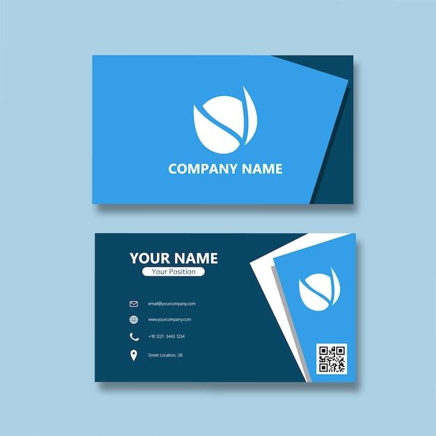 Carte De Visite Minimaliste Papier Vecteur Premium
