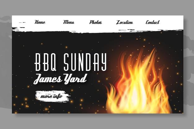 Carte De Débarquement Pour Barbecue Vecteur gratuit