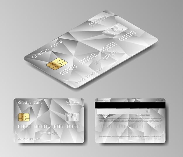Carte De Débit Platine. Ensemble De Vecteur De Cartes De Crédit Vecteur Premium