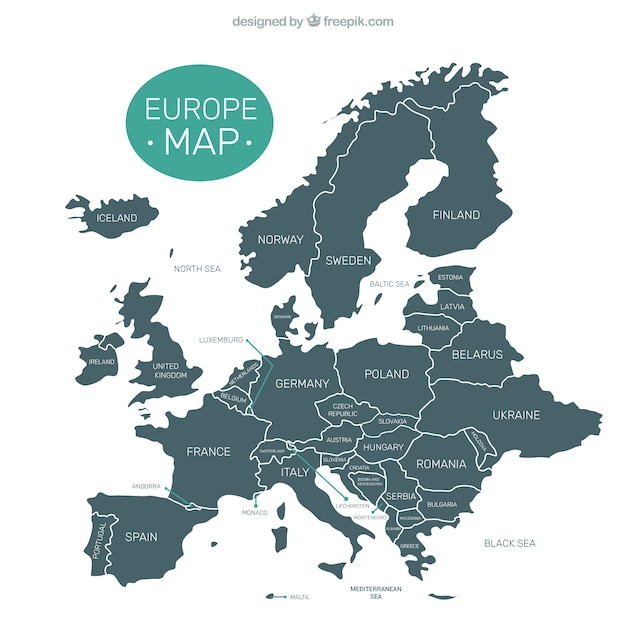 Carte Décorative D'europe Vecteur gratuit