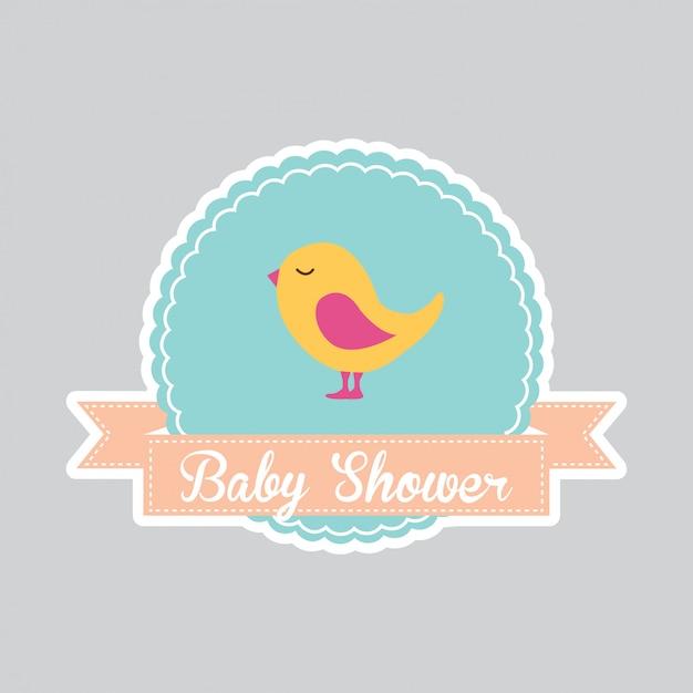 Carte de douche de bébé Vecteur gratuit