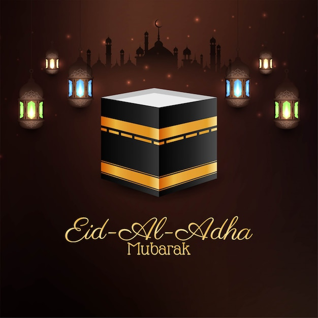 Carte du festival eid al adha mubarak Vecteur gratuit