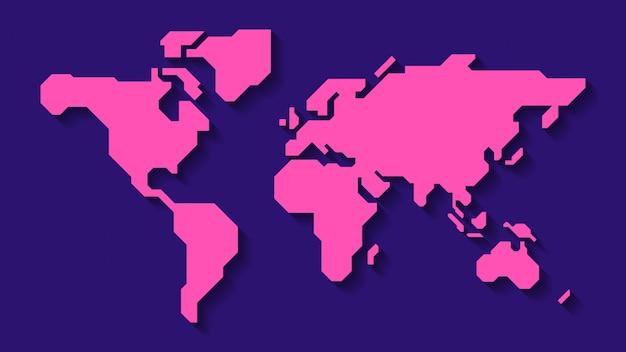 Carte Du Monde 3d Vecteur Premium