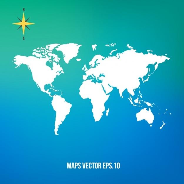 Carte du monde conception Vecteur gratuit