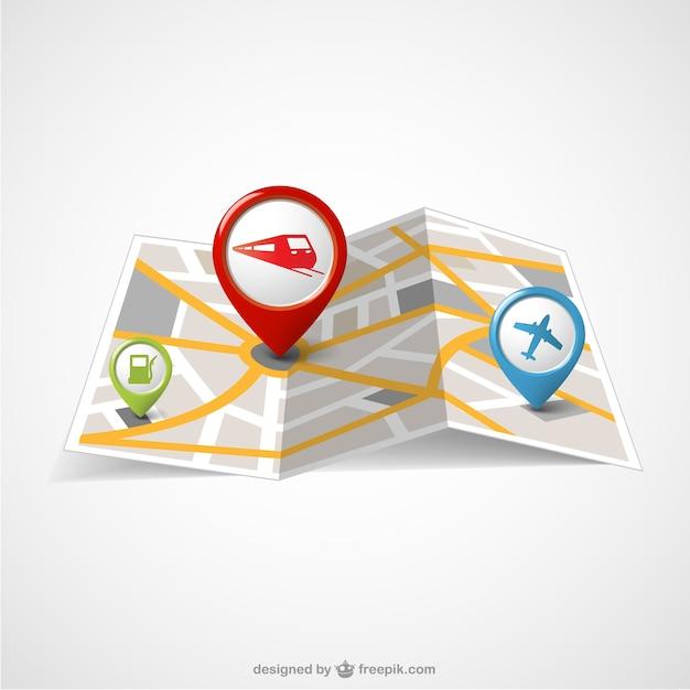 Carte du monde du papier modèle gratuit Vecteur gratuit