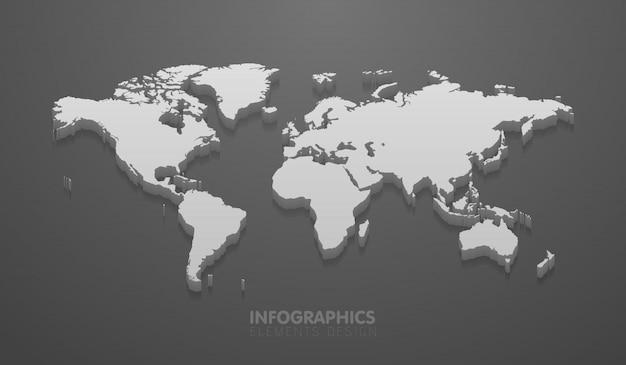 Carte Du Monde Minimaliste Vecteur Premium