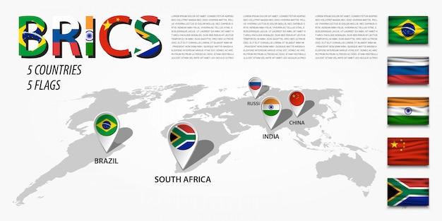 Carte du monde en perspective et emplacement du navigateur gps Vecteur Premium