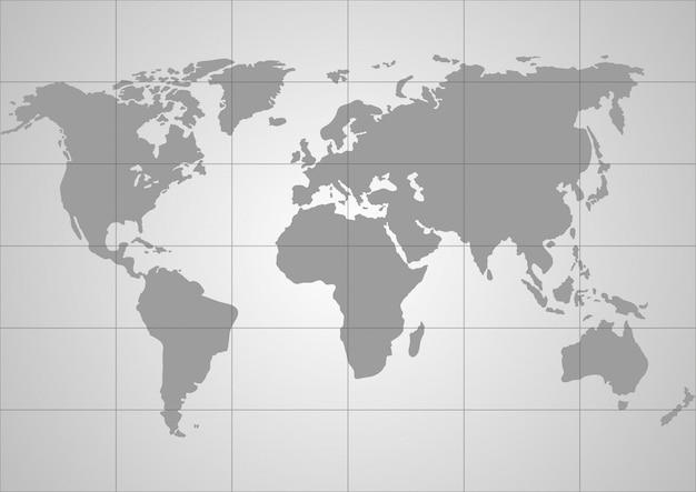 Carte du monde de vecteur Vecteur Premium