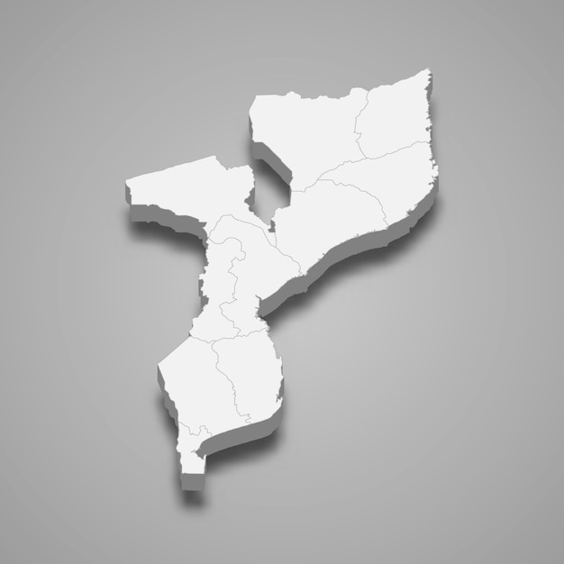 Carte Du Pays Avec Les Frontières Des Régions Vecteur Premium