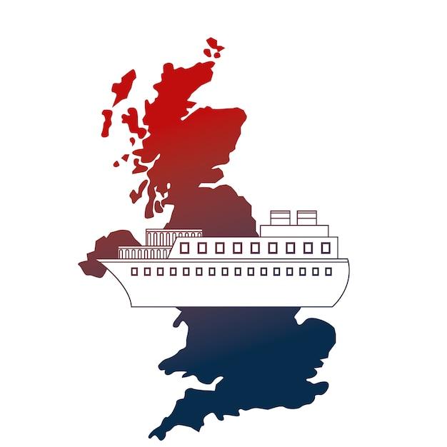 Carte du royaume-uni Vecteur Premium