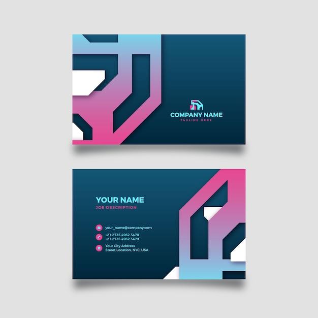 Carte D'entreprise Abstraite Avec Des Formes Dégradées Vecteur gratuit