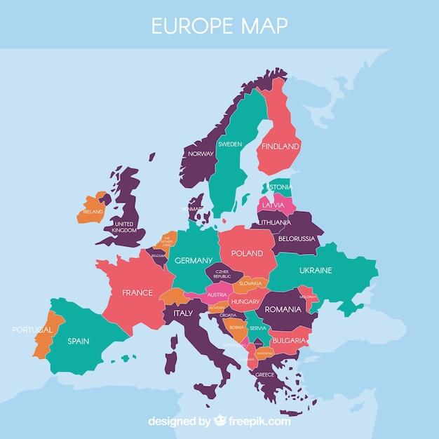 Carte Europ 233 Enne Compl 233 T 233 E T 233 L 233 Charger Des Vecteurs