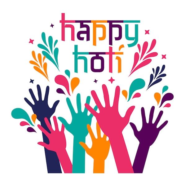 Carte De Fête Happy Holi Vecteur Premium