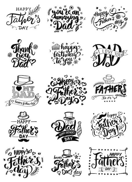 Carte De Fête Des Pères. Vecteur Premium