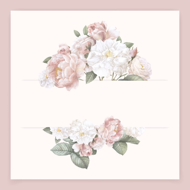 Carte de fleur féminine Vecteur gratuit
