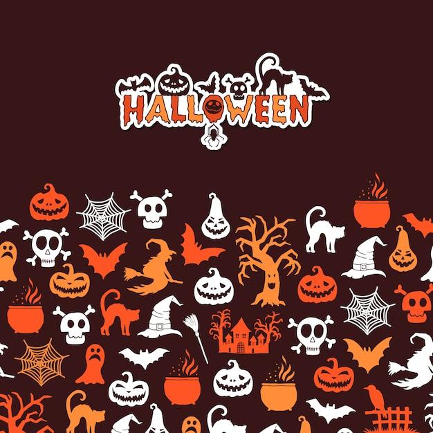 Carte d'halloween Vecteur Premium