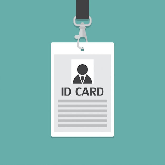 Carte d'identité d'entreprise dans un design plat. Vecteur Premium
