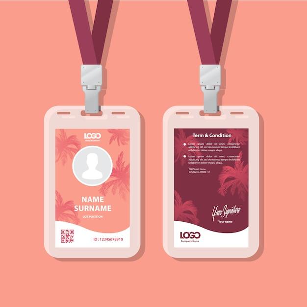 Carte d'identité Vecteur Premium