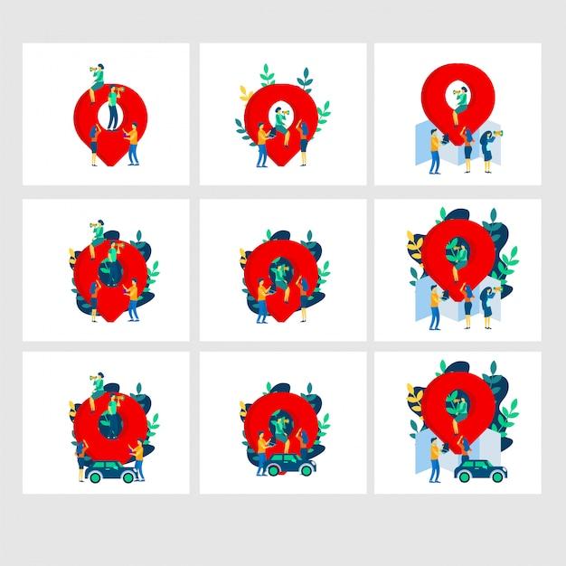 Carte Illustration Plate Modèles Vecteur Premium
