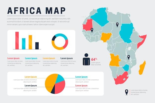 Carte Infographique De L'afrique Vecteur Premium