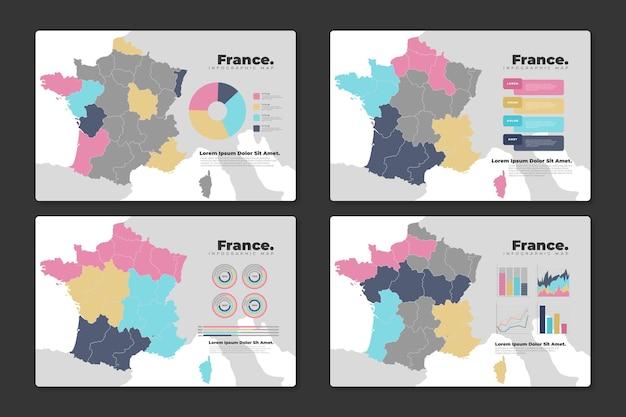 Carte Infographique De France Vecteur gratuit