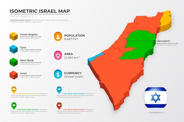 Carte Infographique Isométrique D'israël Vecteur gratuit