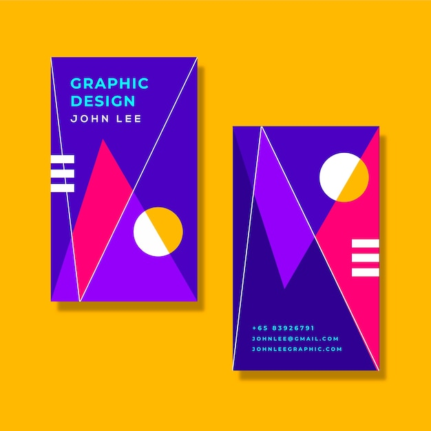 Carte D'information D'entreprise Design Coloré Vecteur gratuit