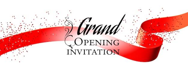 Carte D Invitation Blanche Grande Ouverture Télécharger