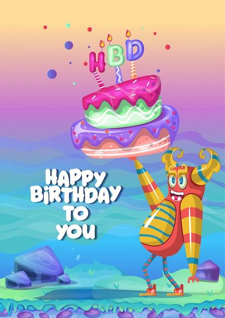 Carte d'invitation de fête d'anniversaire Vecteur Premium