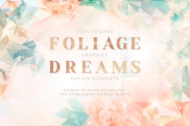 Carte d'invitation floral rêveur Vecteur gratuit