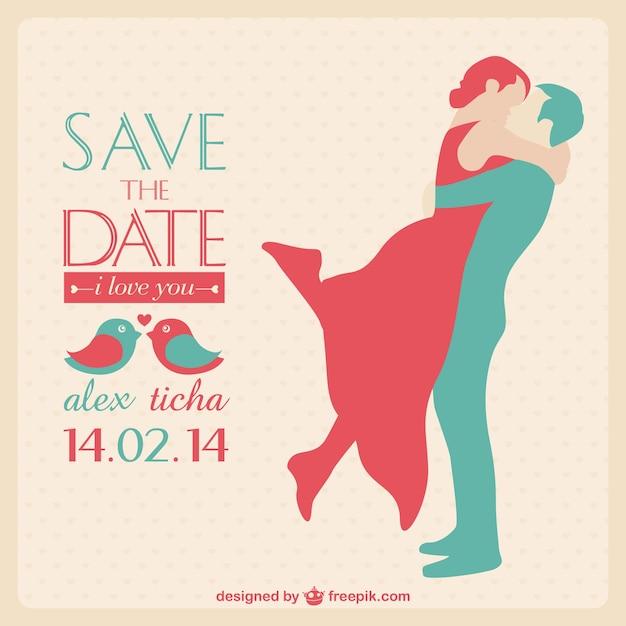 Carte d'invitation de mariage Vecteur gratuit
