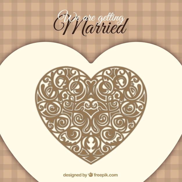 Vecteur Gratuite Carte D Invitation De Mariage