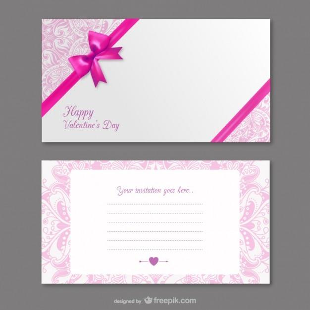 La Carte D Invitation De La Saint Valentin Vecteur Gratuite