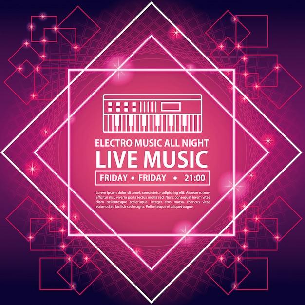 Carte d'invitation de soirée dansante Vecteur Premium
