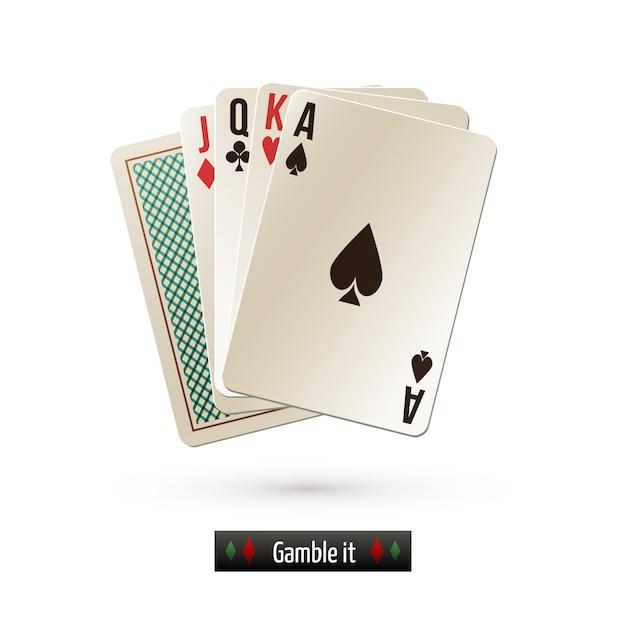 Carte de jeu isolée Vecteur gratuit