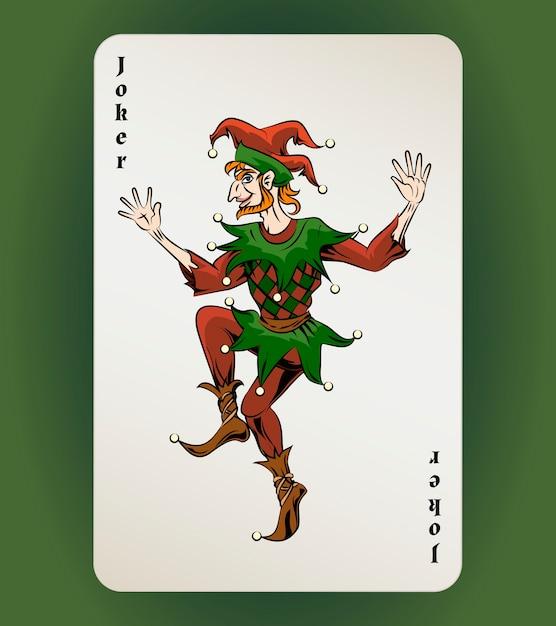 Carte à Jouer Vector Joker, Bouffon De Couleur Sur Fond Blanc Vecteur gratuit