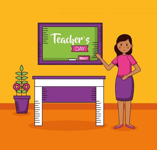 Carte De La Journée Des Enseignants Vecteur gratuit