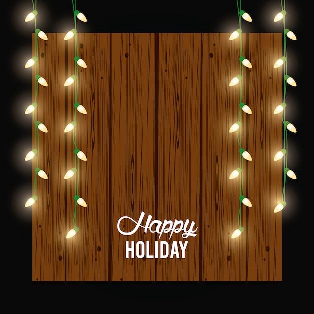 Carte de joyeuses fêtes et décoration Vecteur Premium