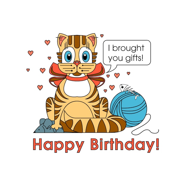 Carte de joyeux anniversaire pour amoureux des chiens. heureux chien de la race de teckel se félicite de son anniversaire Vecteur Premium