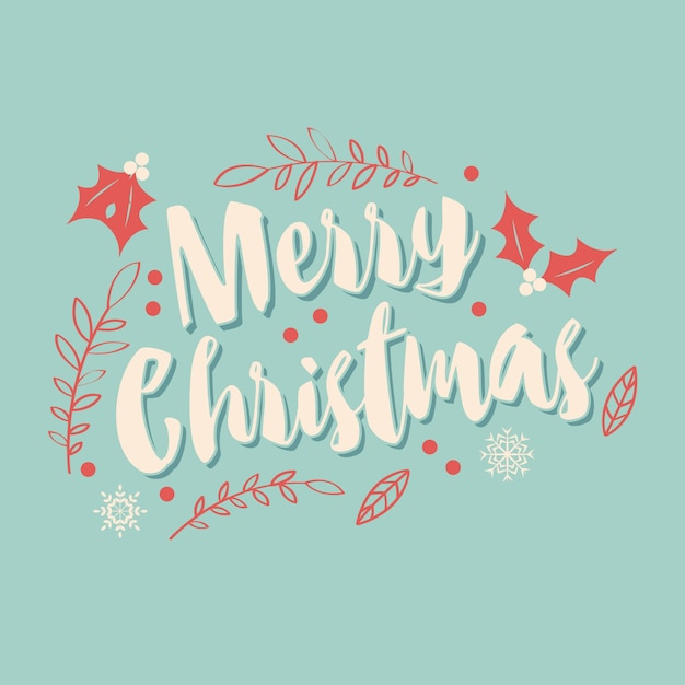 Joyeux Noel Techno.Carte De Joyeux Noel Typographique Avec Elements Decoratifs
