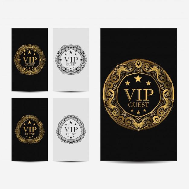 Carte de luxe premium vip Vecteur Premium