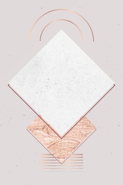 Carte de marbre blanc Vecteur gratuit