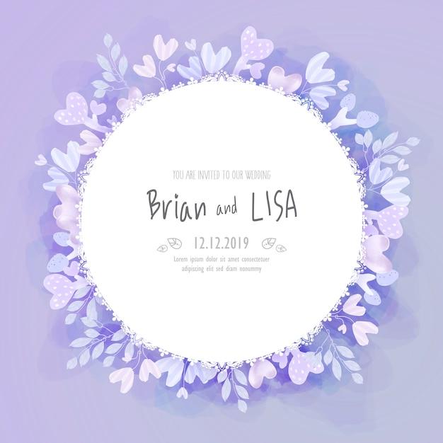 Carte de mariage floral vintage dans un style aquarelle. Vecteur Premium