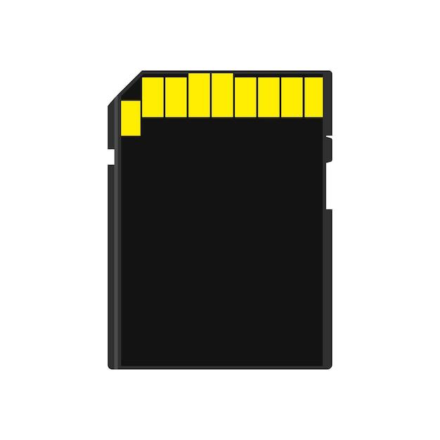 Carte Mémoire Vue Arrière Symbole Magasin Adaptateur Vecteur Icône Disque Flash Disque. Vecteur Premium