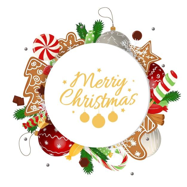 Carte De Noël Avec Des Souhaits De Vacances Calligraphiques Vecteur Premium