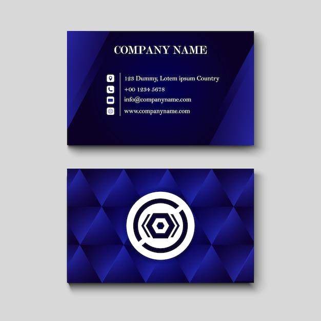 Carte de nom bleue Vecteur Premium
