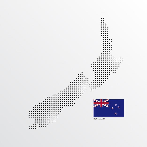 Carte De Nouvelle-zélande Vecteur gratuit