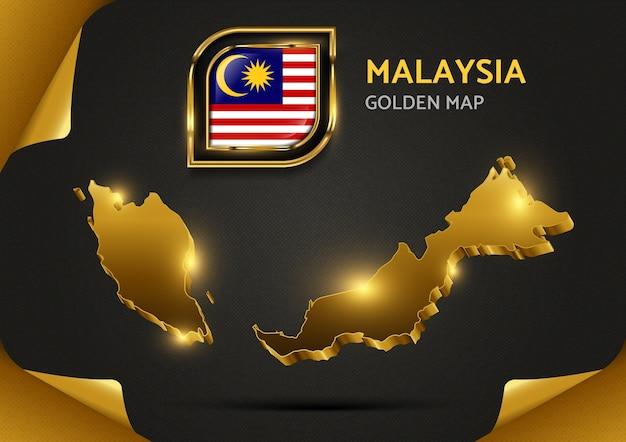 Carte D'or De Luxe Malaisie Vecteur Premium