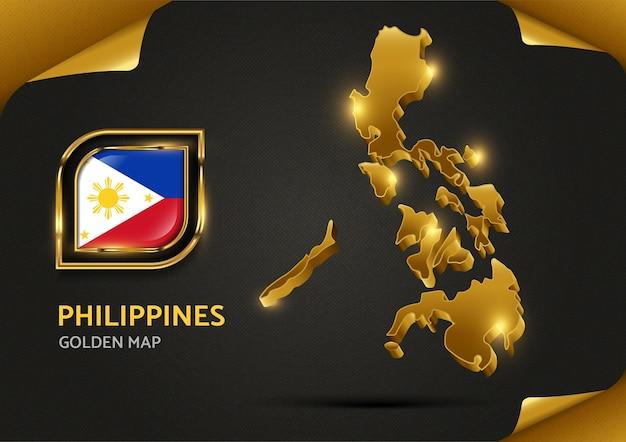 Carte D'or De Luxe Philippines Vecteur Premium