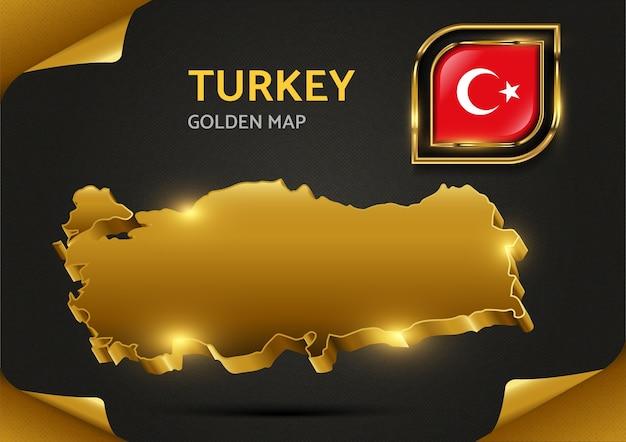 Carte D'or De Luxe Turquie Vecteur Premium